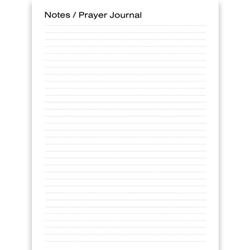2021 PERSONAL PRAYER DIARY/DAILY PLANNER<BR>Extra Note Pages