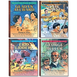 HEROES FOR YOUNG READERS<BR>4-book Gift Set (Books 1-4)